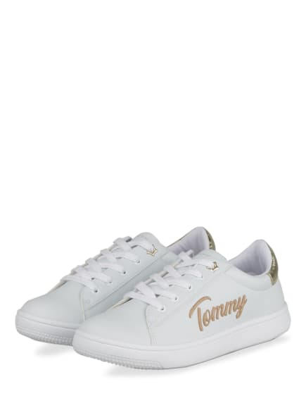 TOMMY HILFIGER Sneaker , Farbe: WEISS/ GOLD (Bild 1)