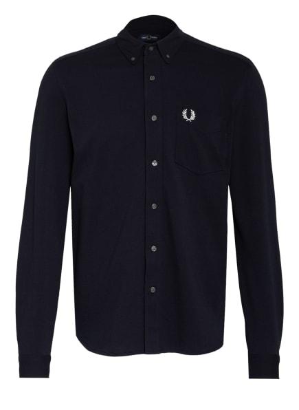 FRED PERRY Piqué-Hemd Regular Fit, Farbe: DUNKELBLAU (Bild 1)
