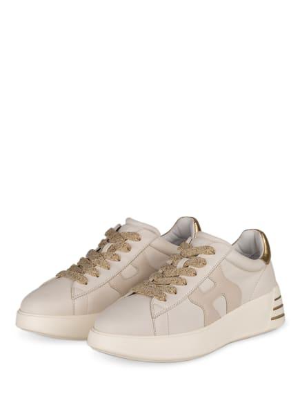 HOGAN Plateau-Sneaker H564, Farbe: ECRU/ GOLD (Bild 1)