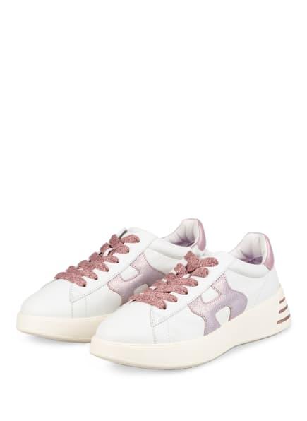 HOGAN Plateau-Sneaker REBEL , Farbe: WEISS/ HELLLILA/ ROSA (Bild 1)