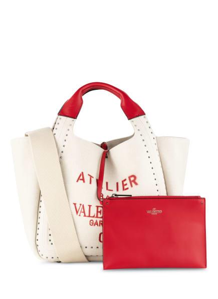 VALENTINO GARAVANI Handtasche ATELIER SMALL mit Pouch, Farbe: CREME/ ROT (Bild 1)