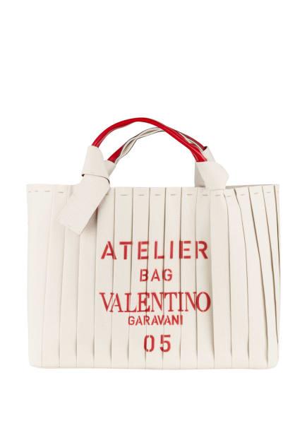VALENTINO GARAVANI Shopper ATELIER BAG mit Pouch LARGE, Farbe: ECRU/ ROT (Bild 1)