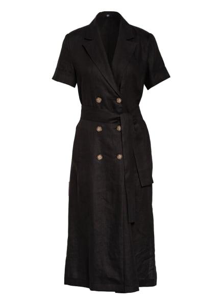 RIANI Hemdblusenkleid aus Leinen, Farbe: SCHWARZ (Bild 1)