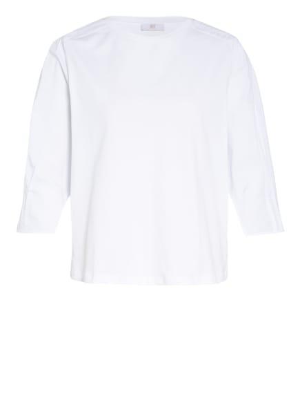 RIANI Shirt mit 3/4-Arm im Materialmix, Farbe: WEISS (Bild 1)