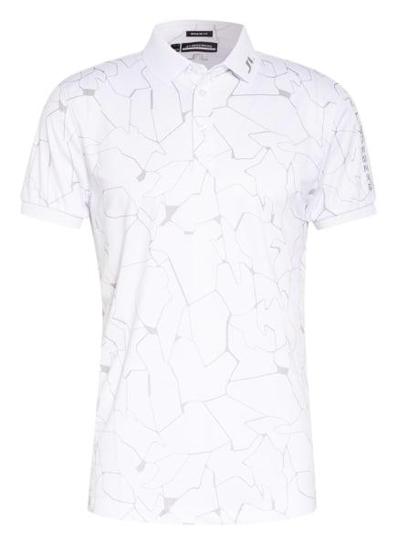J.LINDEBERG Funktions-Poloshirt Regular Fit, Farbe: WEISS/ GRAU (Bild 1)