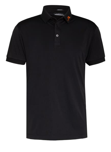 J.LINDEBERG Funktions-Poloshirt Regular Fit, Farbe: SCHWARZ/ ORANGE (Bild 1)