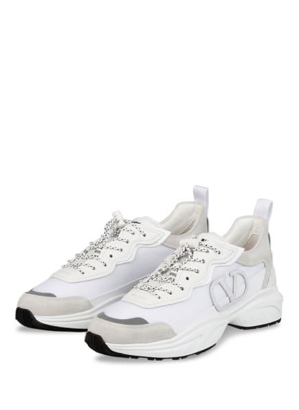 VALENTINO GARAVANI Plateau-Sneaker VLOGO, Farbe: WEISS/ HELLGRAU (Bild 1)