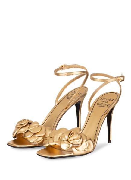 VALENTINO GARAVANI Sandaletten ATELIER SHOES 03 ROSE EDITION, Farbe: GOLD (Bild 1)