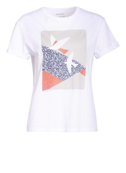 ARMEDANGELS T-Shirt NAALIN, Farbe: WEISS/ BEIGE/ COGNAC (Bild 1)