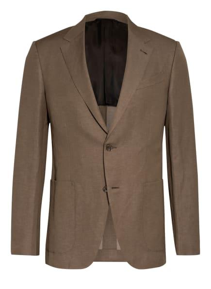 Ermenegildo Zegna Anzugsakko TROFEO Extra Slim Fit mit Leinen, Farbe: 950503 Brown (Bild 1)