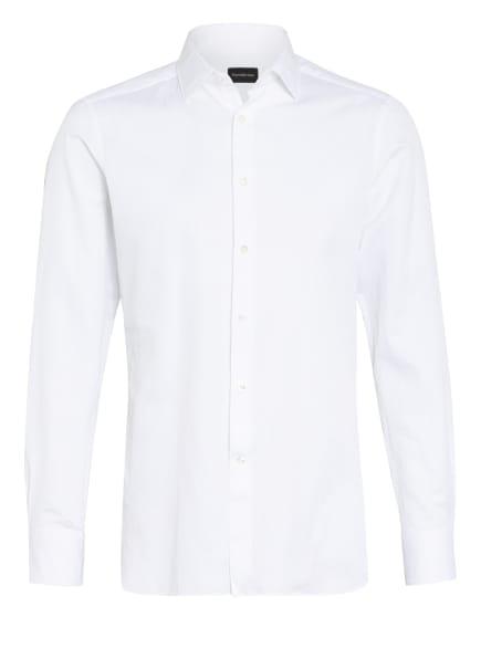 Ermenegildo Zegna Hemd MILANO Extra Slim Fit mit Leinen, Farbe: WEISS (Bild 1)