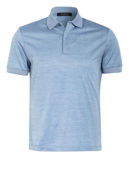 Ermenegildo Zegna Jersey-Poloshirt , Farbe: PETROL/ WEISS (Bild 1)