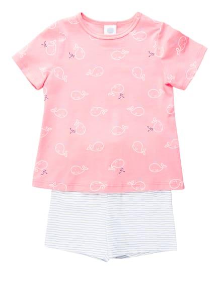 Sanetta Shorty-Schlafanzug, Farbe: WEISS/ HELLBLAU/ ROSA (Bild 1)