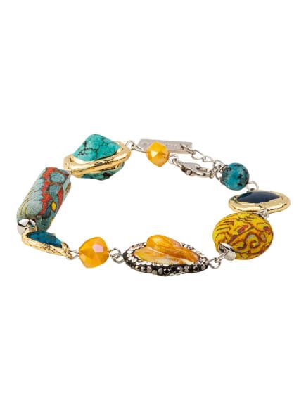 ETRO Armband, Farbe: TÜRKIS/ HELLORANGE/ GOLD (Bild 1)