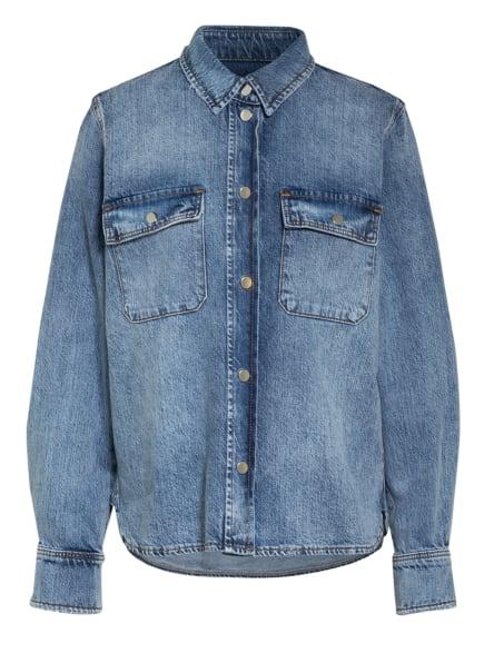 SET Hemdbluse aus Jeans, Farbe: DUNKELBLAU/ BLAU (Bild 1)