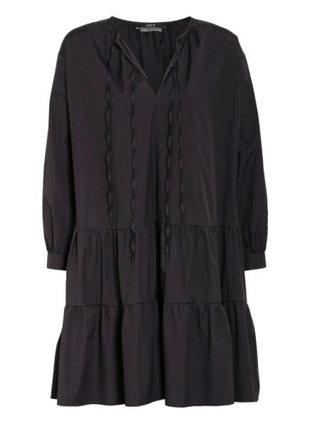 SET Kleid mit Volantbesatz, Farbe: SCHWARZ (Bild 1)
