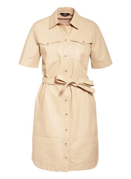 SET Hemdblusenkleid aus Leder, Farbe: BEIGE (Bild 1)