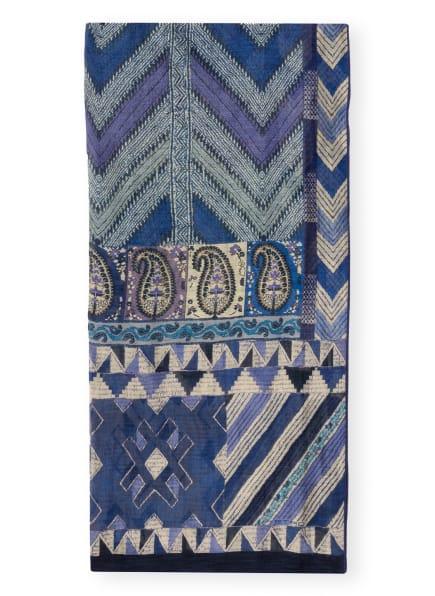 ETRO Schal mit Leinen und Seide, Farbe: BLAU/ BEIGE (Bild 1)