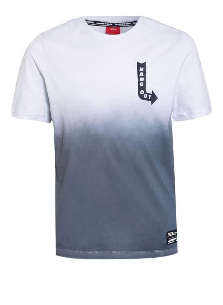 s.Oliver RED T-Shirt, Farbe: GRAU/ WEISS (Bild 1)