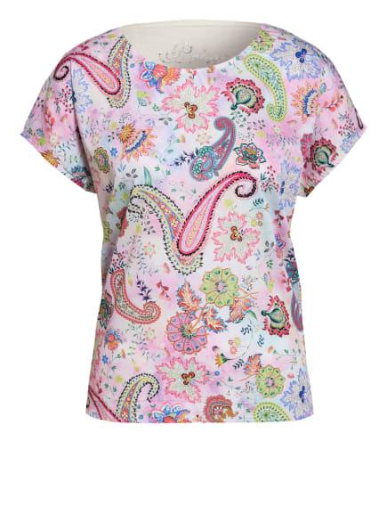 Princess GOES HOLLYWOOD T-Shirt im Materialmix mit Leinen, Farbe: ROSA/ GELB/ BLAU (Bild 1)