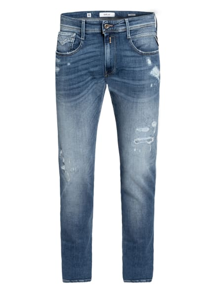 REPLAY Destroyed Jeans ANBASS Slim Fit, Farbe: 009 MEDIUM BLUE (Bild 1)