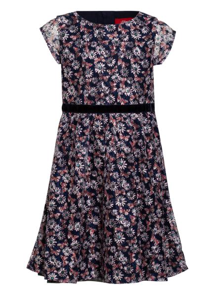 s.Oliver RED Mesh-Kleid, Farbe: DUNKELBLAU/ WEISS/ HELLROT (Bild 1)