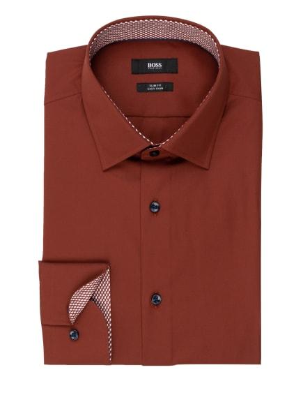 BOSS Hemd JORAX Slim Fit, Farbe: BRAUN (Bild 1)