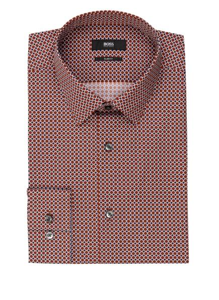 BOSS Hemd ISKO Slim Fit, Farbe: BRAUN/ WEISS/ DUNKELBLAU (Bild 1)