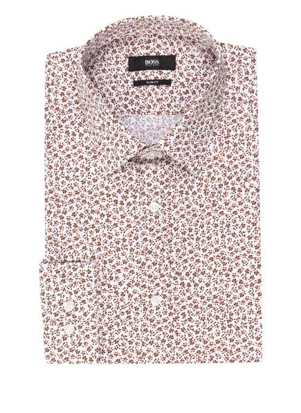 BOSS Hemd ISKO Slim Fit, Farbe: WEISS/ BRAUN (Bild 1)