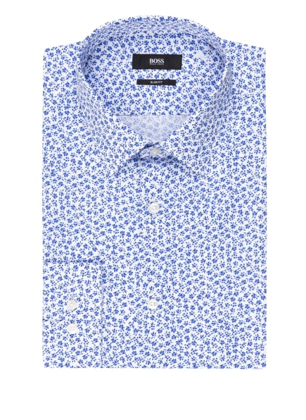 BOSS Hemd ISKO Slim Fit, Farbe: WEISS/ BLAU (Bild 1)