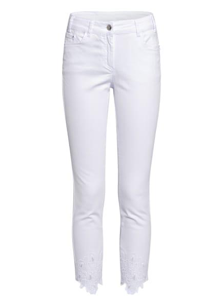 SPORTALM 7/8-Jeans mit Stickereien, Farbe: 01 OPTICAL WHITE (Bild 1)