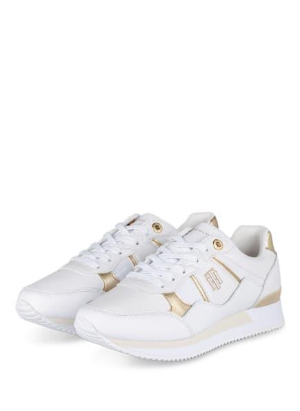 TOMMY HILFIGER Sneaker, Farbe: WEISS/ GOLD (Bild 1)