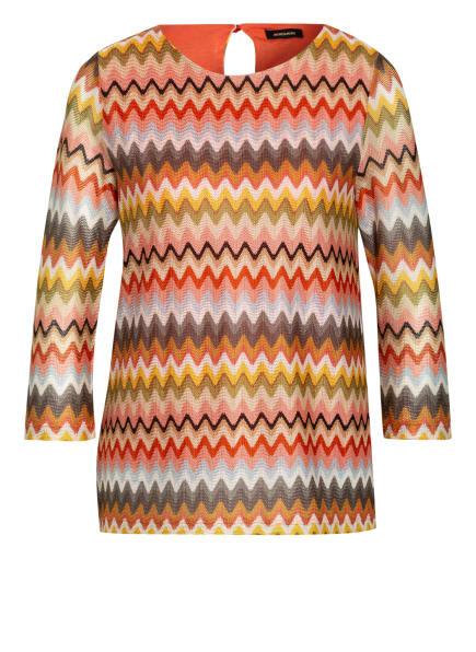 MORE & MORE Strickshirt mit 3/4-Arm, Farbe: ORANGE/ OLIV/ DUNKELGELB (Bild 1)