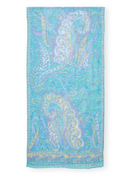 ROECKL Schal mit Leinen, Farbe: GELB/ HELLLILA/ MINT (Bild 1)