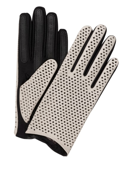 ROECKL Lederhandschuhe GRANADA TOUCH, Farbe: SCHWARZ/ CREME (Bild 1)