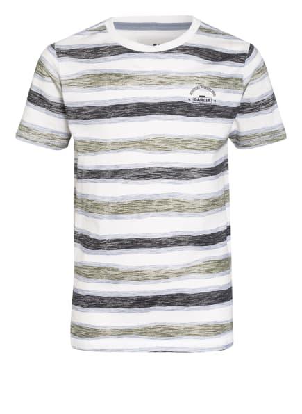 GARCIA T-Shirt, Farbe: WEISS/ OLIV/ DUNKELGRAU (Bild 1)