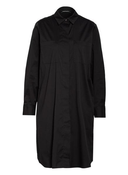 REPEAT Hemdblusenkleid, Farbe: SCHWARZ (Bild 1)