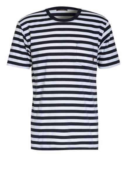DENHAM T-Shirt TROY BRETON, Farbe: DUNKELBLAU/ WEISS (Bild 1)