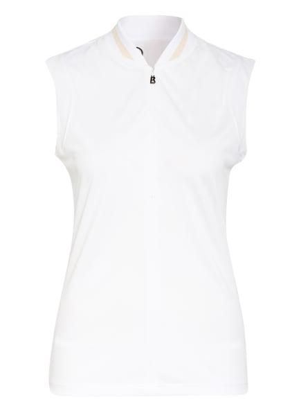 BOGNER Funktions-Poloshirt EVA, Farbe: WEISS/ BEIGE (Bild 1)