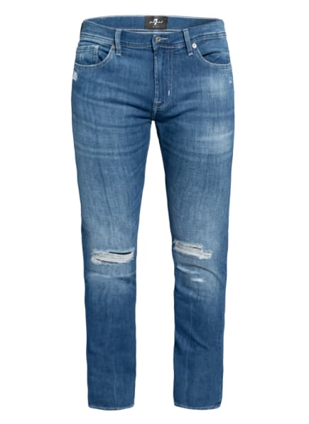 7 for all mankind Jeans RONNIE Skinny Fit, Farbe: MID BLUE (Bild 1)