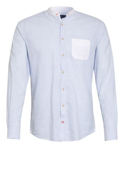 COLOURS & SONS Hemd LOUIS Slim Fit mit Stehkragen , Farbe: WEISS/ HELLBLAU (Bild 1)