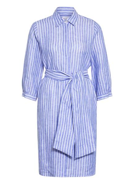seidensticker Hemdblusenkleid aus Leinen, Farbe: WEISS/ HELLBLAU (Bild 1)