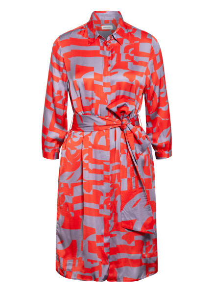 seidensticker Hemdblusenkleid mit 3/4-Arm, Farbe: ROT/ GRAU (Bild 1)