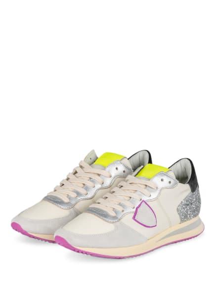 PHILIPPE MODEL Sneaker TRPX, Farbe: BEIGE/ FUCHSIA/ SILBER (Bild 1)