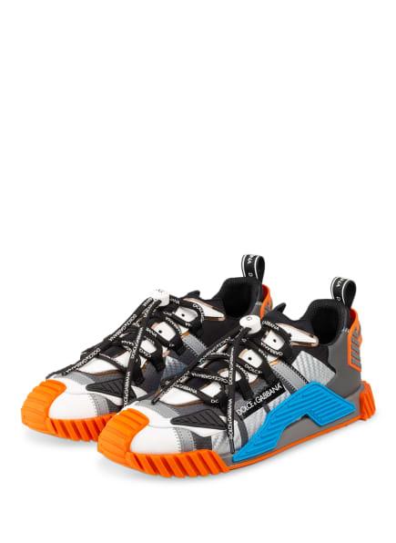 DOLCE&GABBANA Sneaker NS1, Farbe: SCHWARZ/ WEISS/ ORANGE (Bild 1)
