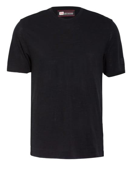 ZZegna Piqué-Shirt, Farbe: SCHWARZ (Bild 1)