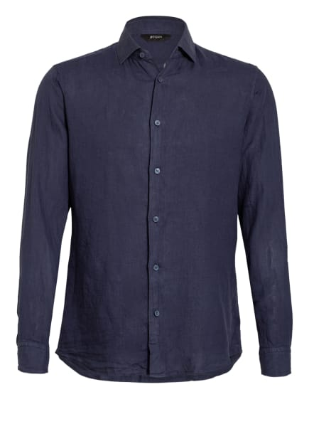 ZZegna Leinenhemd Slim Fit , Farbe: DUNKELBLAU (Bild 1)