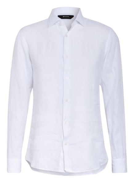 ZZegna Leinenhemd Slim Fit, Farbe: WEISS (Bild 1)