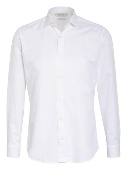 ZZegna Hemd Regular Fit mit Leinen, Farbe: WEISS (Bild 1)