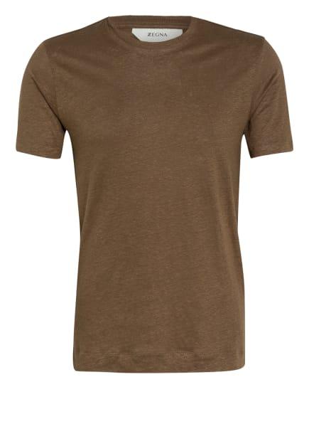ZZegna T-Shirt aus Leinen, Farbe: KHAKI (Bild 1)